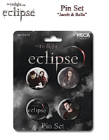Eclipse / Zatmění - Odznak 4ks, Jacob and Bella (Twilight Saga / Stmívání) 22069
