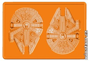 Star Wars - Silikonová formička na led - Millennium Falcon