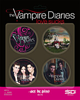 Vampire Diaries (Upíří deníky) - placky 4ks Set B
