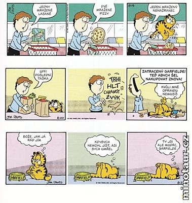 Garfield bere vše