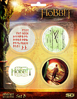 Hobit: An Unexpected Journey - placky 4ks Set B