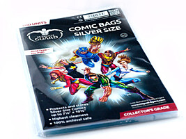"Comic Bags - Silver Size (7 1/8""x10 3/8"") (100ks) Ultimate Guard"