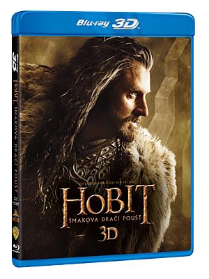 BD - Hobit: Šmakova dračí poušť (4 Blu-ray 3D+2D)