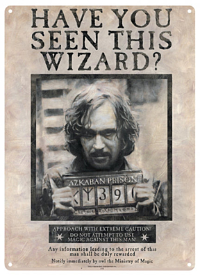 Harry Potter - plechová cedule Sirius Black 30x42cm