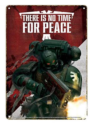 Warhammer - Plechová cedule Propaganda 21 x 15 cm