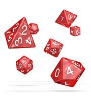 Sada 7 RPG kostek - Marble Red