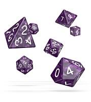 Sada 7 RPG kostek - Marble Purple