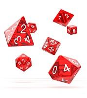 Sada 7 RPG kostek - Translucent Red