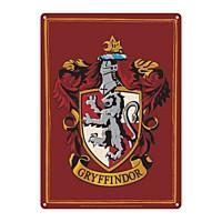 Harry Potter - Plechová cedule Nebelvír (Gryffindor) 21x15 cm