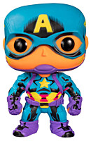 Marvel - Captain America Black Light POP Vinyl Bobble-Head Figure