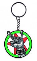 Cyberpunk 2077 - Kovová klíčenka Silverhand Emblem