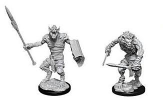 Figurka D&D - Gnoll & Gnoll Flesh Gnawer - Unpainted (Dungeons & Dragons: Nolzur's Marvelous Miniatures)